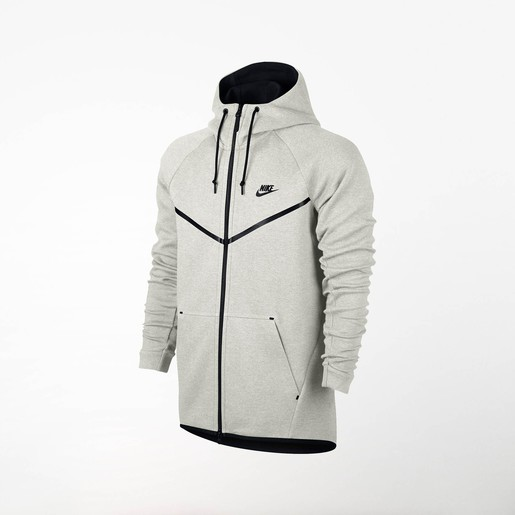 M NSW TCH FLC WR HOODIE FZ LIGHT BONE, S