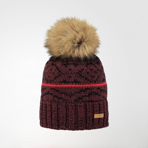 EARTHA BEANIE BURGUNDY ONE SIZE G, UNICA